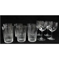 Group of  Baccarat tumblers & wine glasses
