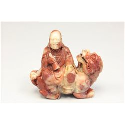 Daoguang carved soapstone figure