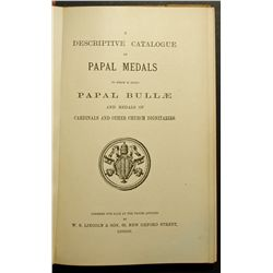 Fix Price Catalogue from W.S. Lincoln & Son ( London ) of Papal Medals, Papal Bullæ and Medals of Ca