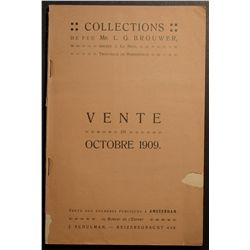Auction Catalogue from J. Schulman ( Amsterdam ) 1909, Sale of antique and world coins from Mr L. G.