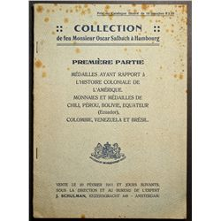 Auction Catalogue from J. Schulman ( Amsterdam ) 1911, Collection of M. Oscar Salbach ( Hambourg ) o