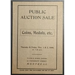 Auction Catalogue from Walter M. Kearns, Auctioneer 1906, Coin, Medals, etc with price realise in ma