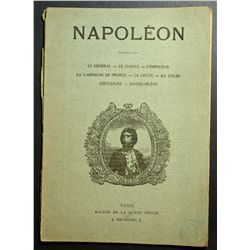 Napoléon; Biography of his life, his campains etc in french .