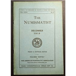 The Numismatist December 1919 Vol XXXII No.12 published by the American Numismatic Association.