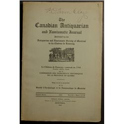 The Canadian Antiquarian and Numismatic Journal 1932, Fourth Series Vol III Nos 1,2,3,4 in one book