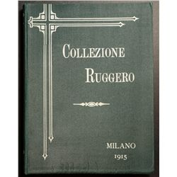 Collezione Ruggero, catalogue of Italian Coin collection sold in Milano in 1915, large amount of pic