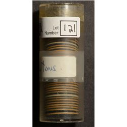 Meat Ration Blue Token, Roll of 40 in a plastic tube.