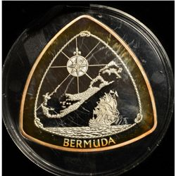 Bermuda Triangular $9.00 Silver Proof coin. 5 ounces of .999 silver with very limited issue of 1000