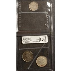 Great Britain; 3 Pence 1887 VF-20, 6 Pence 1893 AU-50 and 1900 UNC. Lot of 3 coins.