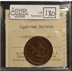 Cent 1891, ICCS EF-40; LL SD. Unnoted Obverse 3.
