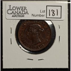 Cent 1891 AU-50, Large Date, Large Leaves, Obverse 3.