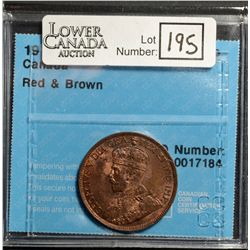 Cent 1913, CCCS MS-62; Red & Brown.