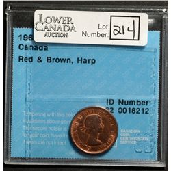 Cent 1962, CCCS MS-62; Red & Brown, Harp.