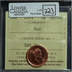 Cent 2001, ICCS MS-66; Red.