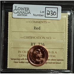 """Cent 2009, ICCS MS-67; Red. Not noted """"Magnetic""""."""