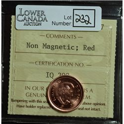 Cent 2010, ICCS MS-67; Red, Non Magnetic.