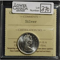 25 Cents 1968, ICCS MS-66; Silver.