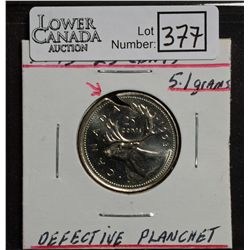 25 Cents 1993 MS-63 Cracked Planchet, beautiful and scarce.