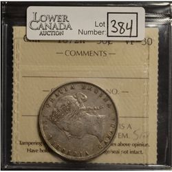 50 Cents 1872H, ICCS VF-30.