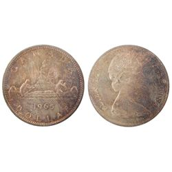1 Dollar 1965, ICCS MS-65; Small Beads, Pointed 5. Attractive.