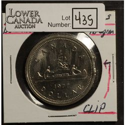 1 Dollar 1977 MS-60 SWL Detached Jewels Clipped, Nickel dollar with clip are scarce and quite in dem
