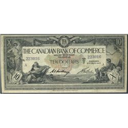 1917 The Canadian Bank of Commerce; 10 Dollars, PMG VF-25 Charlton 75-16-02-06, 223016.