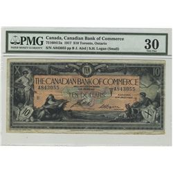 1917 The Canadian Bank of Commerce; 10 Dollars, PMG VF-30 Charlton 75-16-04-12a, A843055.