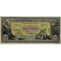 1917 The Canadian Bank of Commerce; 20 Dollars, PMG VF-25 Charlton 75-16-04-20a, 240435.