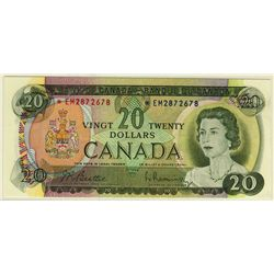 1969 Bank of Canada; 20 Dollars, PCGS UNC-63 PPQ Charlton BC-50aA, *EM2872678 Replacement.
