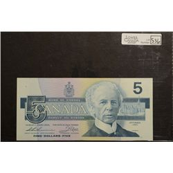 1986 Bank of Canada; 5 Dollars, UNC-60 BC-56bA, FNX2079483 Replacement.
