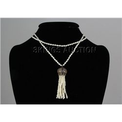 129.16ctw Victorian Silver Jewelry Necklace