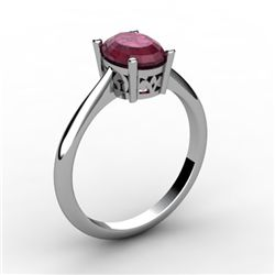Ruby 1.06 ctw Ring 14kt White Gold