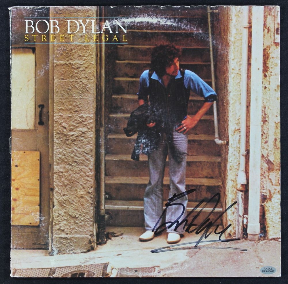 Bob Dylan Signed LP Record: \