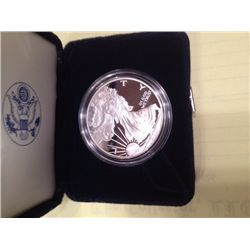 2001 PROOF SILVER EAGLE IN CASE