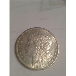 1883-S MORGAN SILVER DOLLAR AU-50