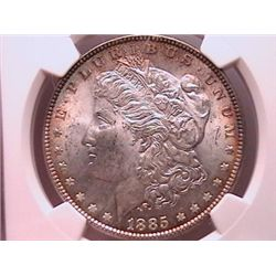 1885 Morgan Dollar MS63 NGC