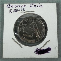 Risque 2 Sided Comic Coin: Plug Me In, Without a Washer