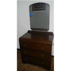 Waterfall Vanity 3 Drawer Dresser