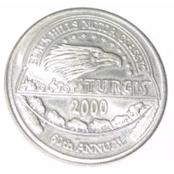 2000 STURGIS 60TH ANNUAL BLACK HILLS MOTOR CLASSIC COIN *RARE MINT CONDITION*!!