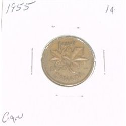 1955 CANADIAN 1 CENT PENNY *PLEASE LOOK AT PICTIRE TO DETERMINE GRADE*!!