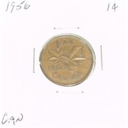 1956 CANADIAN 1 CENT PENNY *PLEASE LOOK AT PICTIRE TO DETERMINE GRADE*!!