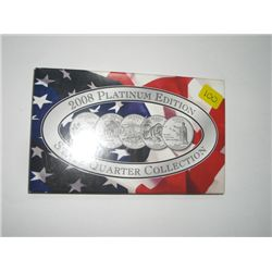2008 PLATINUM EDITION 5 STATE QUARTERS COLLECTION *OK/NM/AZ/AK & HI*!!