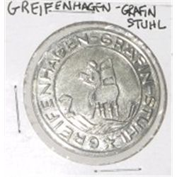 GREIFENHAGEN - GRAFIN STUHL *RARE HARD TO FIND MS HIGH GRADE COIN*!!