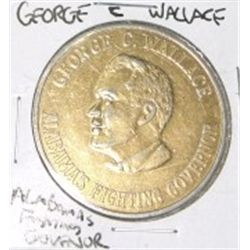 ALABAMA'S FIGHTING GOVENOR *GEORGE C. WALLACE GOLD PLATED COIN *RARE HARD TO FIND NICE COIN*!!