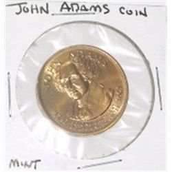 JOHN ADAMS PRESIDENT COIN *RARE HARD TO FIND MINT CONDITION COIN*!!