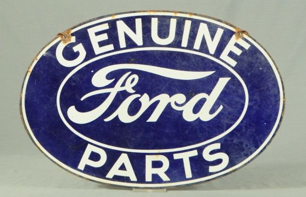 genuine ford parts porcelain sign. Black Bedroom Furniture Sets. Home Design Ideas
