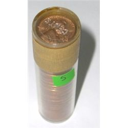 ROLL OF 1963-D *RARE UNC ROLL* PENNIES 50 TOTAL *ROLL CAME OUT OF SAFE DEPOSIT BOX*!!