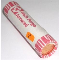 MYSTERY ROLL OF UNC PENNIES *UNC ROLL* PENNIES 50 TOTAL *ROLL CAME OUT OF SAFE DEPOSIT BOX*!!