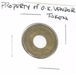 PROPERTY OF *O.K. VENDOR* TOKEN!!