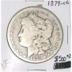 1879-CC CARSON CITY MORGAN SILVER DOLLAR RED BOOK VALUE IS $500.00 *RARE KEY DATE VERY FINE GRADE*!!